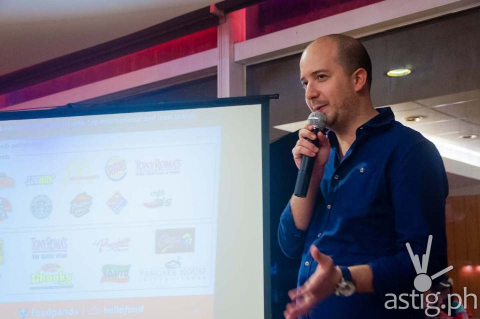 Food Panda Philippines CEO Mauro Cocchieri at the Golden Ticket event held in Rack's SM Megamall