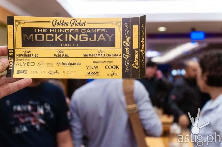 Golden Ticket Events Hunger Games Mockingjay