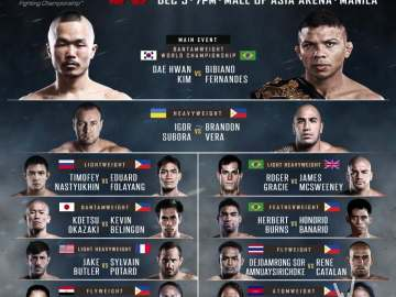 ONE FC Warrior's Way fight card