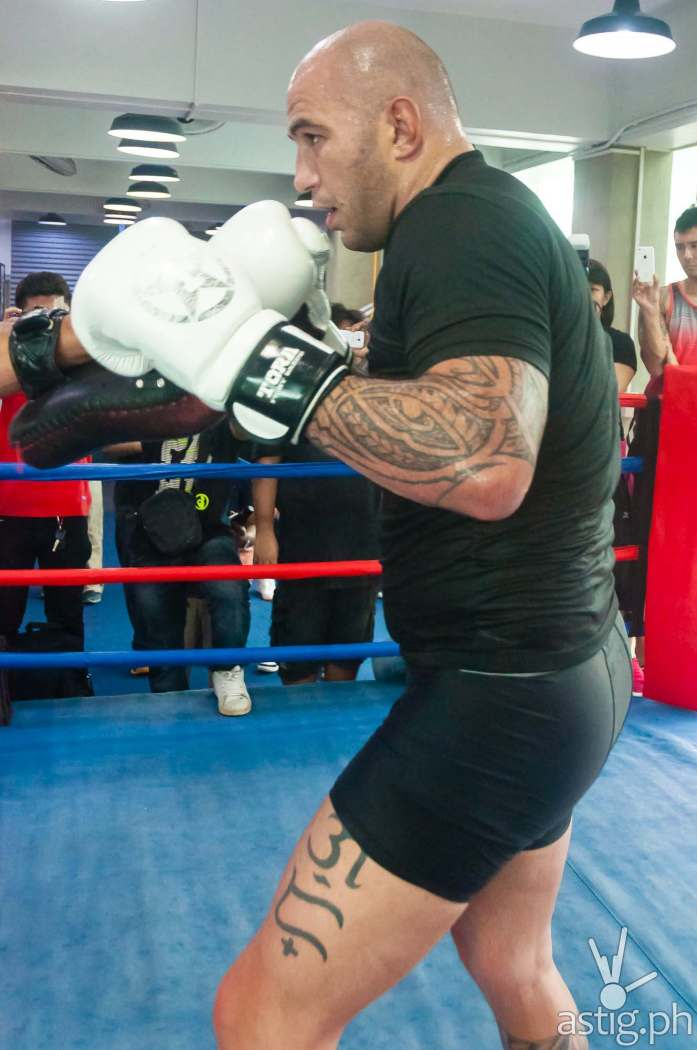 "Brandon ""The Truth"" Vera at the ONE FC: Warrior's Way open workout in Taguig City, Philippines"