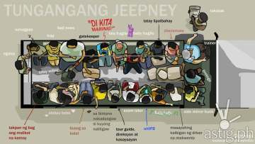 jeepney passenger drawing by christwinfelix
