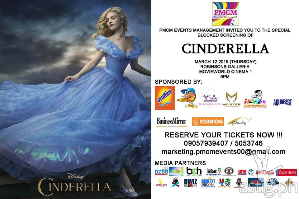 Walt Disney's Cinderella: the movie event poster