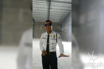 Jagspher Flores singing security guard from Davao