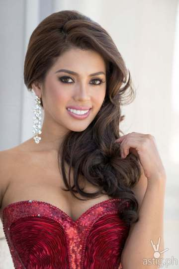 Mary Jean Lastimosa, Miss Philippines 2014, poses in her evening gown upon arriving to Trump National Doral Miami on January 4, 2015. The 63rd Annual MISS UNIVERSE® Pageant contestants are touring, filming, rehearsing and preparing to compete for the DIC Crown in Doral-Miami. Tune in to the NBC telecast at 8:00 PM ET on January 25, 2015 live from the FIU Arena to see who will be crowned the 63rd Miss Universe. HO/Miss Universe Organization L.P., LLLP