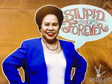 Miriam Defensor Santiago Stupid is Forever book signing