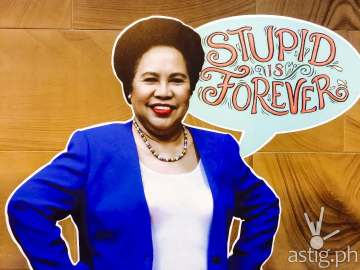 Miriam Defensor Santiago Stupid is Forever book signing