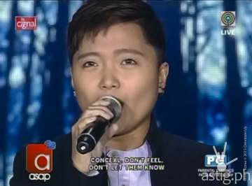 Charice Pempengco singing Let It Go from Disney's Frozen on ASAP 20