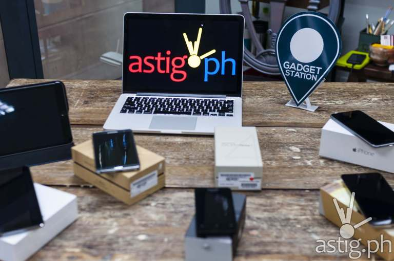 Smartphones, tablets, and laptop at the GetGadget Shop launch held in Ortigas, Pasig City