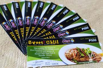Sweet Chili gift certificates