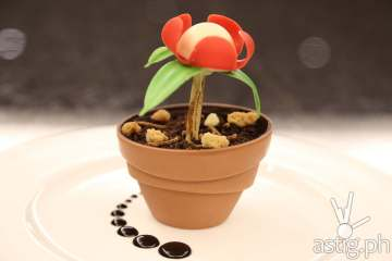Edible Flower Pot Cake for Earth hour at Marriott Manila