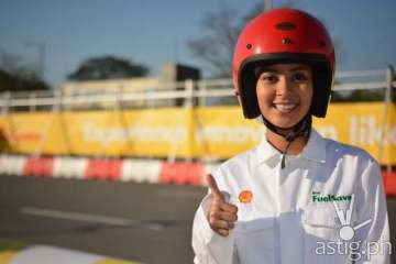 Bianca Gonzalez - Track side at Shell FuelSave Fact or Fiction Celebrity Driving Challenge
