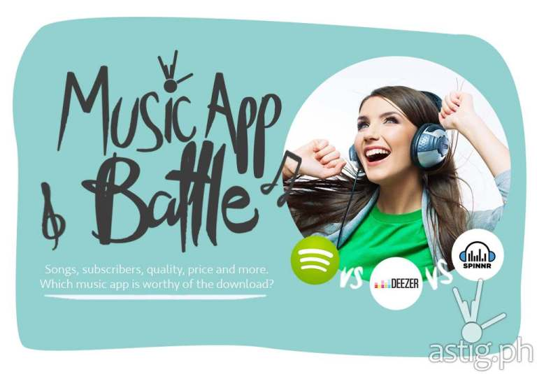 Spotify vs Spinnr vs Deezer: streaming music service