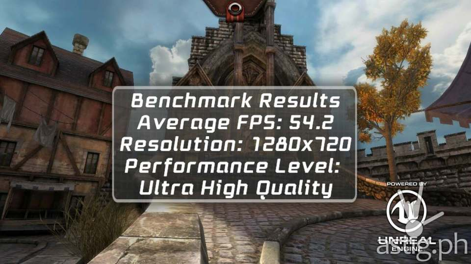 Lenovo A7000 Epic Citadel scored 54 FPS running in Ultra High Quality