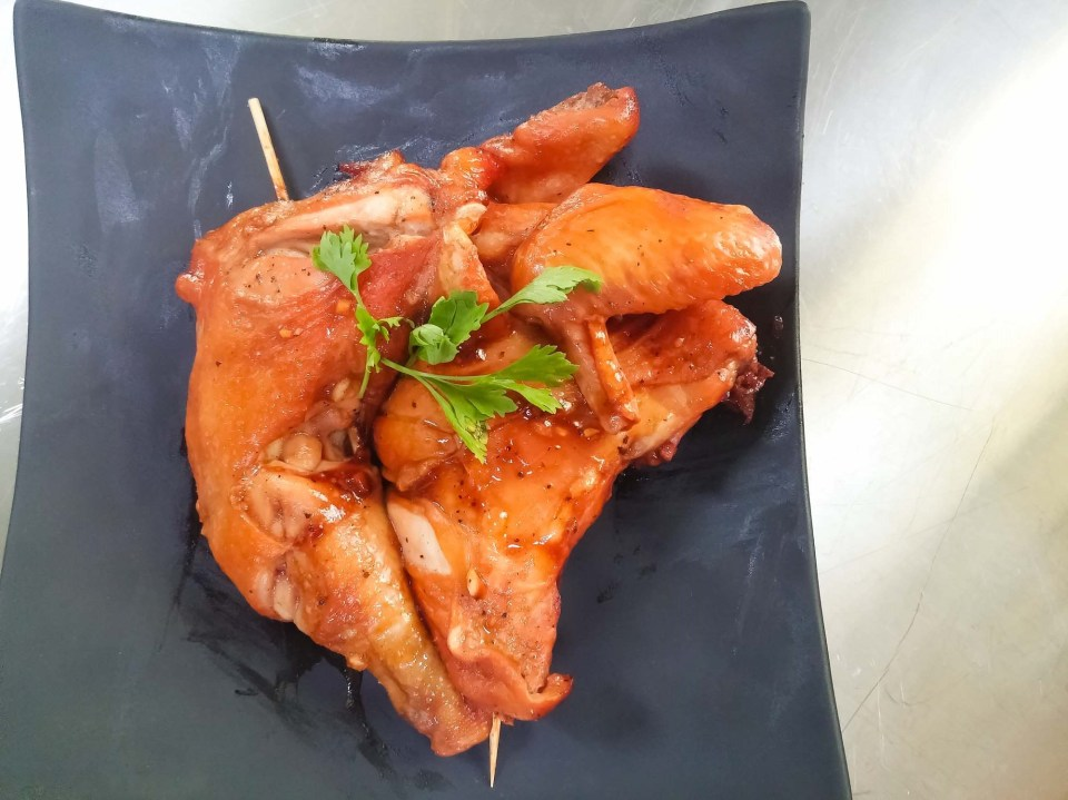 Barbecue Chicken cooked with the Samsung Smart Oven is crisp on the outside and tender-juicy on the inside