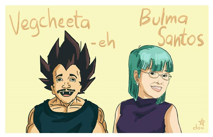 "Rene Requiestas (Cheeta-eh) as ""Vegcheeta-eh"" (Vegeta) and Vilma Santos as ""Bulma Santos"" (Bulma)"