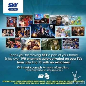 Sky Cable 25th anniversary promo
