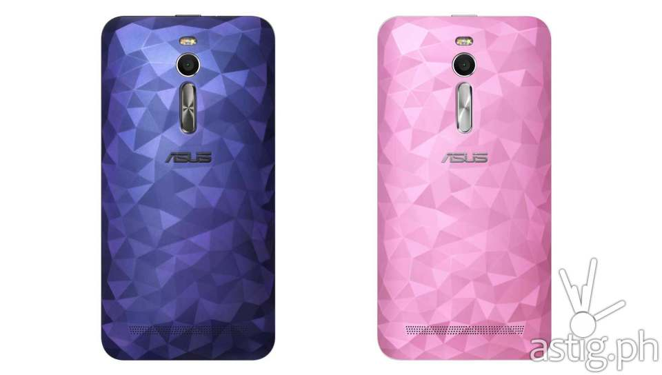 ASUS ZenFone 2 Deluxe Illusion Polygon Blue and Illusion Smooth Pink