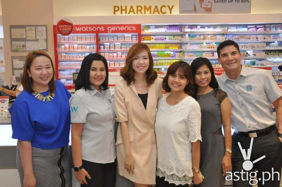 Sai Pascual, Karen Fabres, Krisel Macatangay, Helen Capunong from Watsons with Lorna and Edu