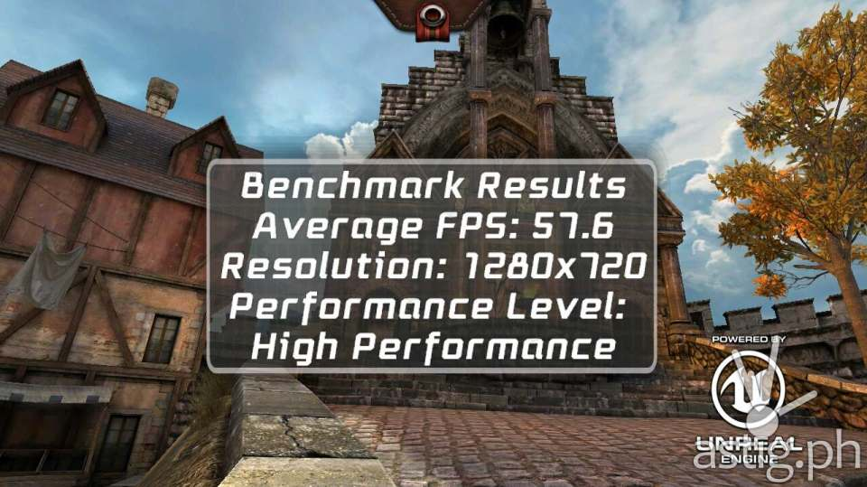 ASUS Zenfone 2 Laser gaming benchmark results Epic Citadel on High Performance