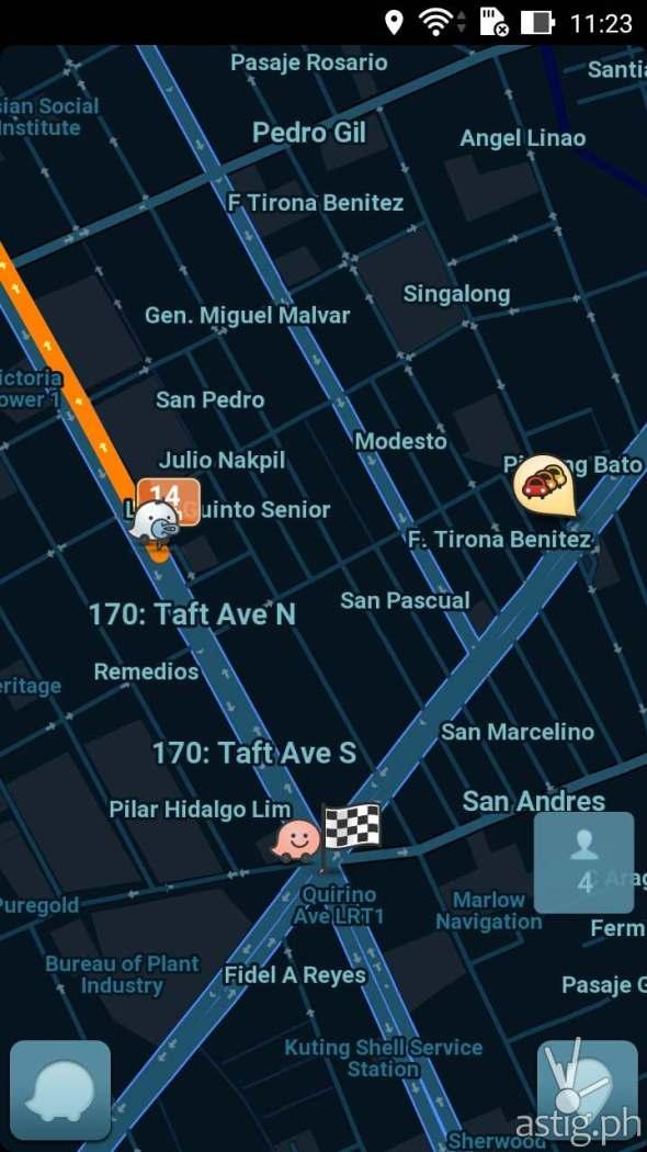 Waze app on the ASUS Zenfone 2 Laser (ZE550KL)