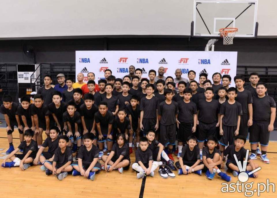 THE KIDS ARE ALRIGHT the adidas PH team and the NBA FIT team with the participants from last Friday's skills camp