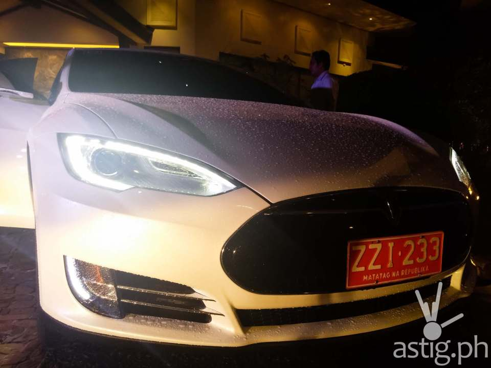 Tesla Model S owned by PLDT and Smart Chariman Manuel V. Pangilinan