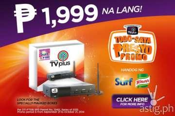 ABS-CBN TVplus price drop down to P1,999