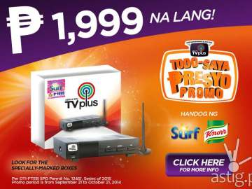 ABS-CBN TVplus price drop down to P1,999