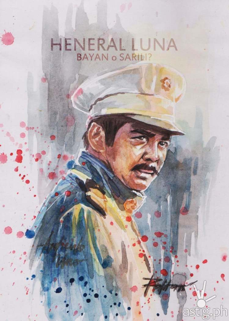 Heneral Luna watercolor painting by Peejhey Palita