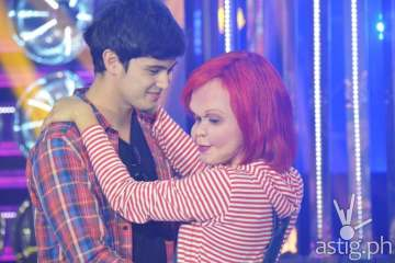 James Reid with Melai Cantiveros dressed as Charky in Your Face Sounds Familiar