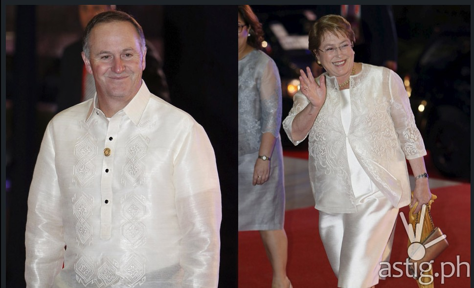 New Zealand Prime Minister John Key and Chilean President Michelle Bachelet