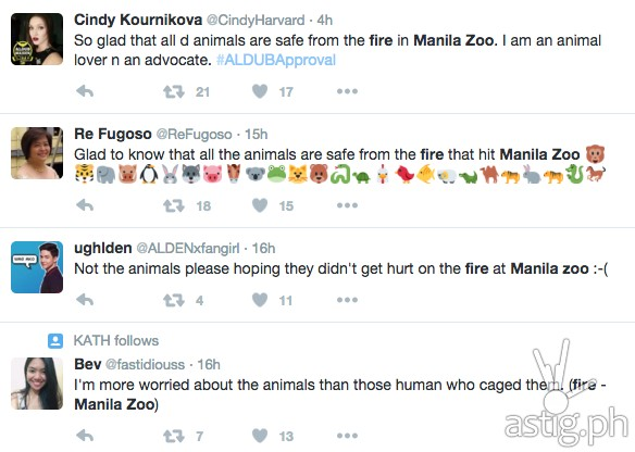 Netizens alarmed on Manila zoo fire