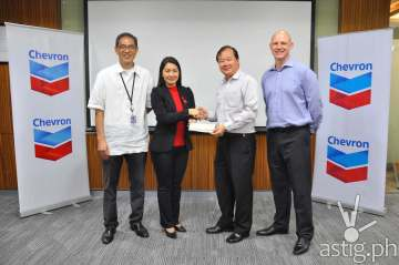 Chevron donates P1 million to Red Cross for rebuilding communities damaged by Typhoon Lando