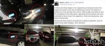 Grace Poe for president car stickers (via Facebook)