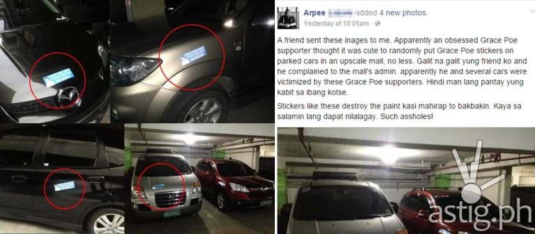 Grace Poe for president car stickers (via Facebook)