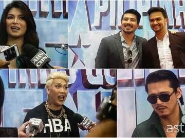 Pilpinas Got Talent judges Vice Ganda, Angel Locsin, Robin Padilla, Lucky Manzano, and Billy Crawford