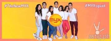 THE NEW MYX SQUAD. (L-R) Sharlene San Pedro, Jairus Aquino, Ai de la Cruz, Robi Domingo, Tippy Dos Santos, Sarah Carlos, Alex Diaz