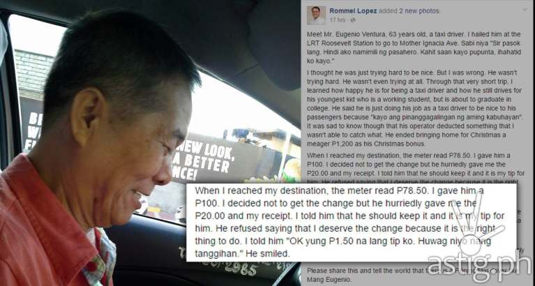 taxi driver manila refuse tip