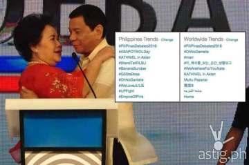 Pilipinas Debates DuRiam Rodrigo Duterte Miriam Defensor Santiago