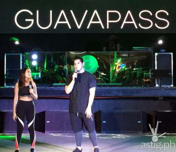 Sambie Rodriguez and Raymond Gutierrez hosting the Philippine launch of Guavapass