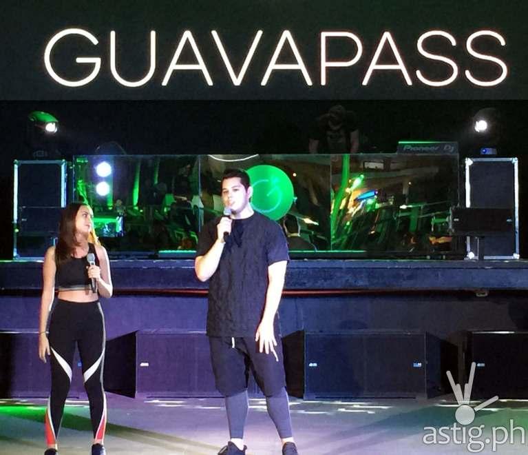 Sambie Rodriguez and Raymond Gutierrez hosting the Philippine launch of Guavapass