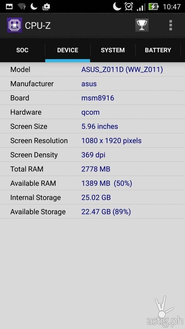 CPU-Z Results RAM