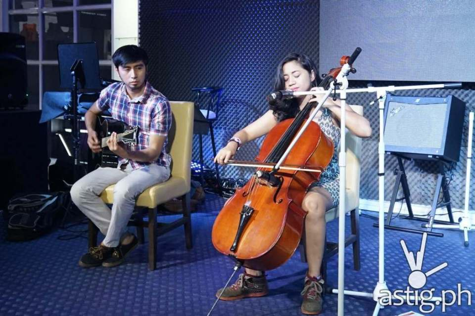 Coeli San Luis treated members of the media with amemorable acoustic performance