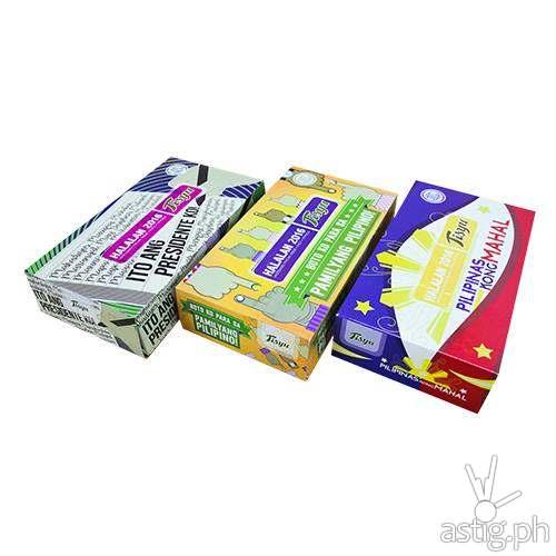 Tisyu election-themed tissue boxes