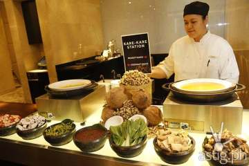 Choice of Pork Knuckles and Oxtail are offered in Kare Kare Station at Marriott Hotel Manila