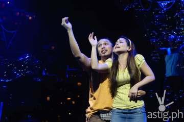 Benj Manalo (Tolits) and Tanya Manalang (Aileen) of Rak of Aegis