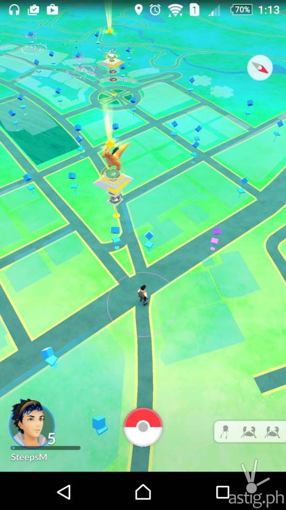 Pokemon Go in-game screenshot