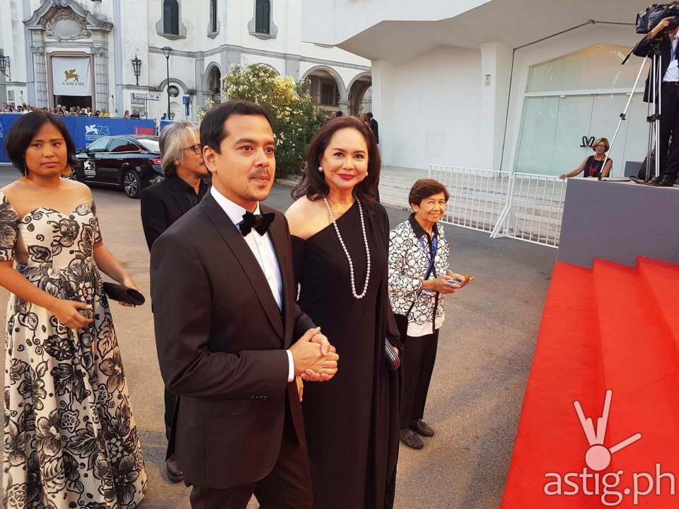 Venice Film Fest red carpet featuring Charo Santos and John Lloyd Cruz