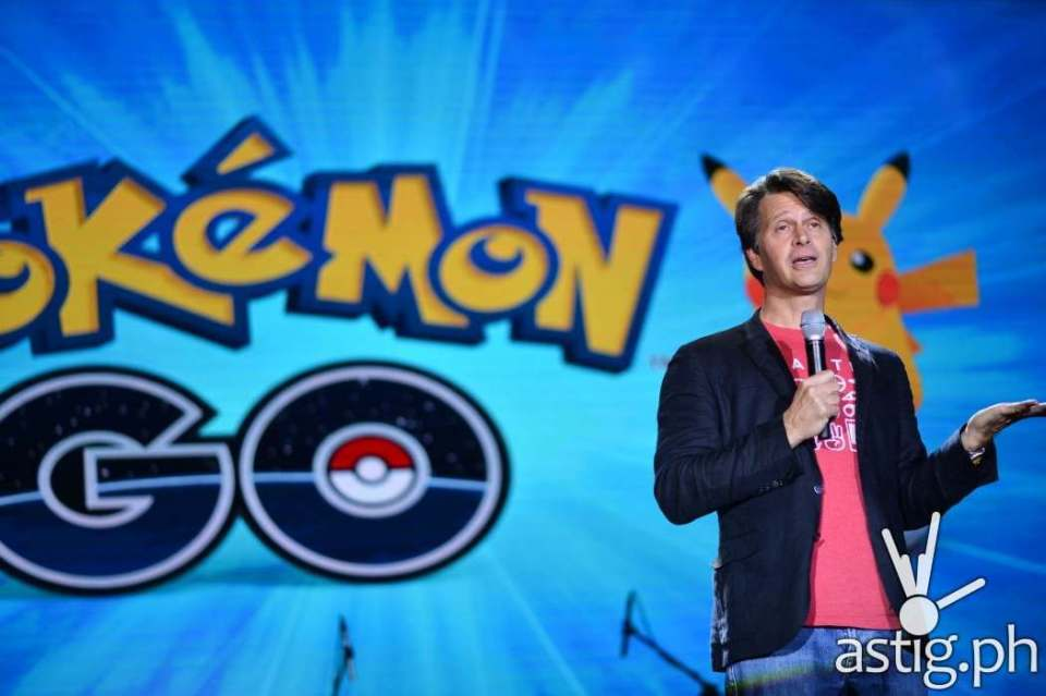 Niantic CEO John Hanke addresses Pinoy Pokemon Go fans at the event in BGC