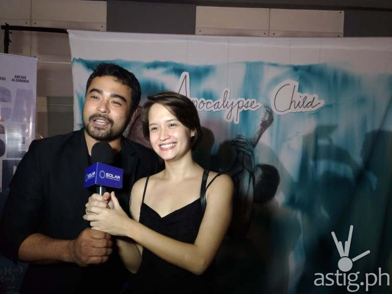 Sid Lucero and Annicka Dolonius at the VIP pre-screening of Apocalypse Child